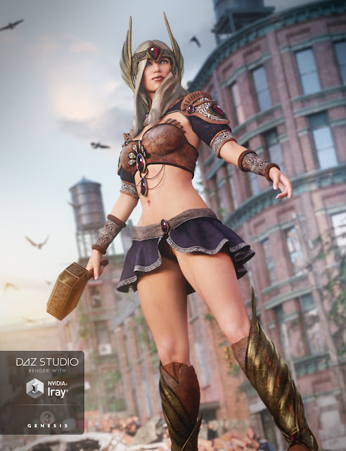Tears of the Gods Outfit for Genesis 3 Female