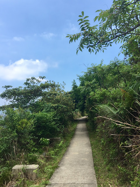 Hiking path of the Lantau Trail from Mui Wo to Pui O, Hong Kong