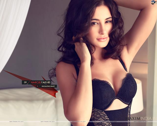 Nargis Fakhri Sexy Bikini Wallpapers