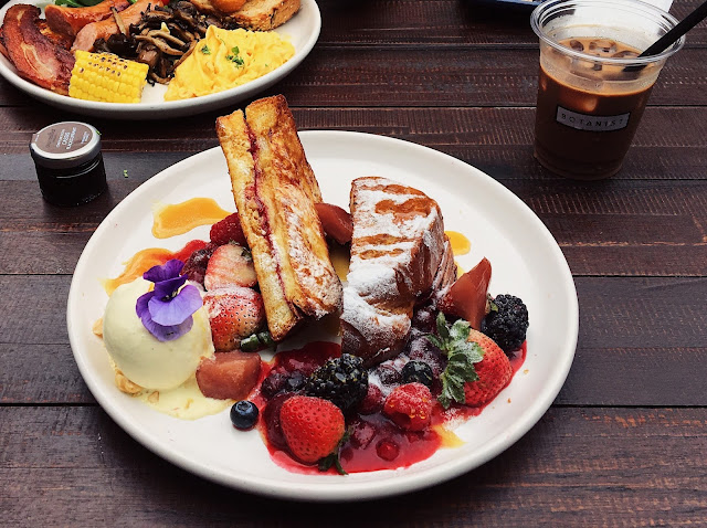 botanist cafe review outram french toast breakfast platter