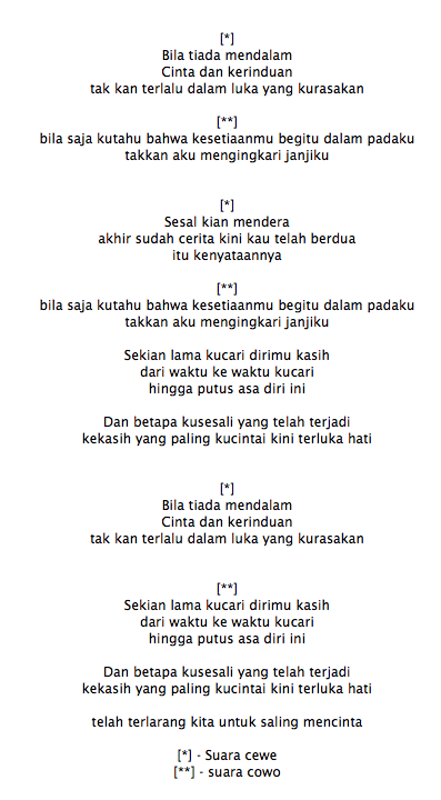 Lirik Lagu Evie Tamala Kandas