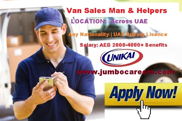 Helpers jobs at UNIKAI Dubai 2018. Helpers salary at Dubai 2018.