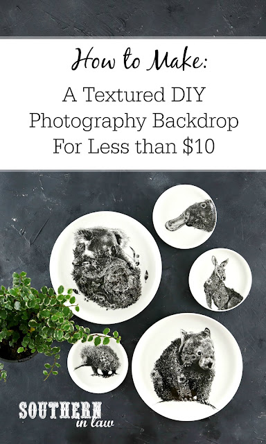 DIY Textured Concrete Photo Backdrop for Products and Flat Lays - Blogging DIY Projects, Budget Friendly, DIY Photography Board Project, How to make a Photography Background