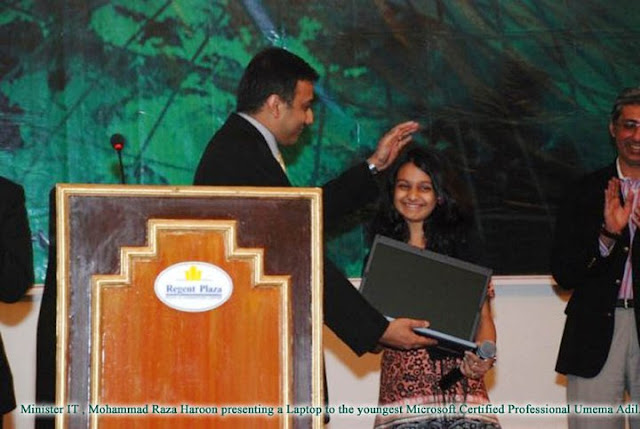 Pakistani Girl Became World's Woungest Microsoft Certified Professional (MCP) in Asp.Net