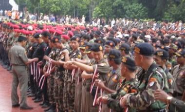 Amankan Istighotsah, Ribuan Polisi, Pasukan Inti Pagar Nusa dan Banser Diterjunkan