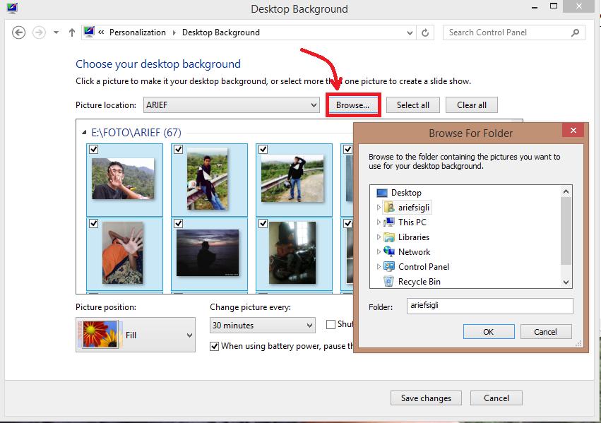 Membuat Background Laptop Berganti Ganti Foto Sepenuhnya
