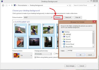 Membuat Background laptop berganti-ganti foto