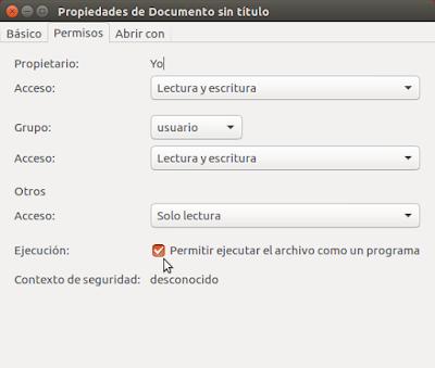 Permitir ejecutar el archivo como un programa