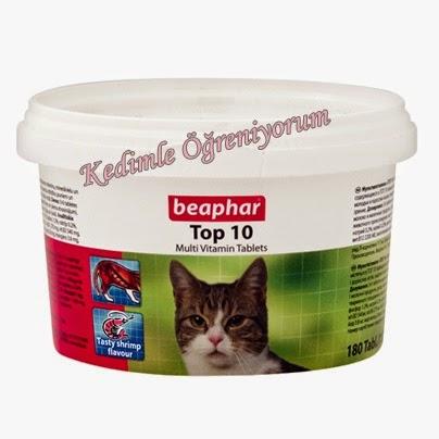 Beaphar Top 10 Kedi Multivitamin - kedi vitamin