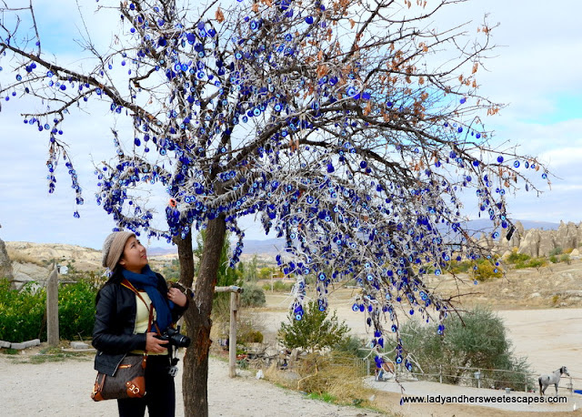 Lady at the Evil Eye Tree Cappadocia