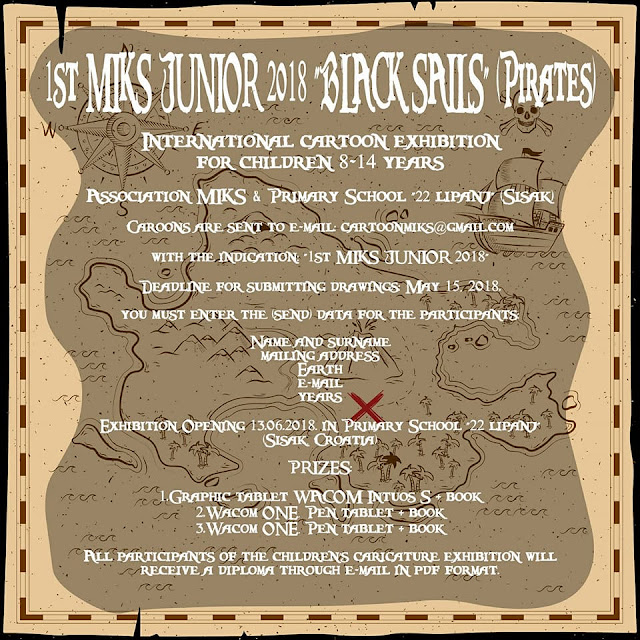 "1st International Cartoon Exhibition 2018 ""Black Sails"" for Junior"