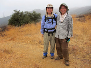 Alex and Gilbert Alzona on Van Tassel Ridge at the national forest boundary (2080')
