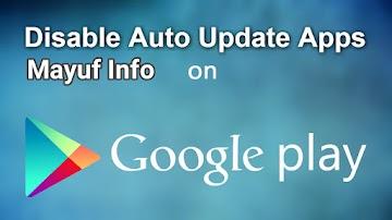Cara Mengatasi/Menghentikan Download Otomatis Di Google Play Store Android