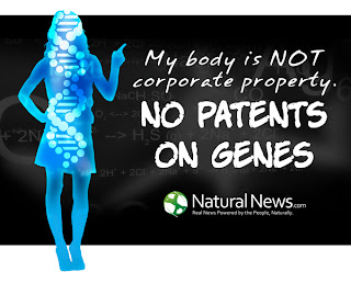 My body is NOT corporate property, No Patents On Genes - US government claims 100% ownership over all your DNA and reproductive rights; genetic slavery is already here