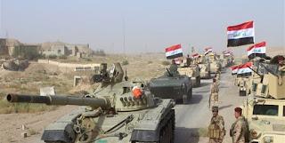 الفرقة المدرعة التاسعة في الجيش العراقي تصل الى ضفة نهر دجلة من الجهة الشمالية للمدينة القديمة في الموصل