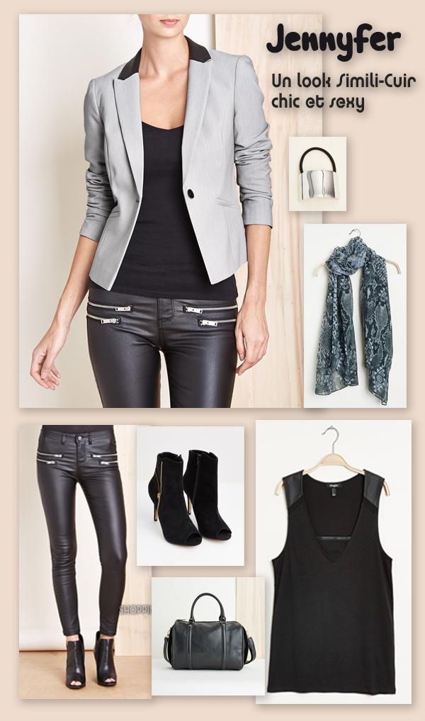 Un look simili-cuir chic et hyper tendance JENNYFER