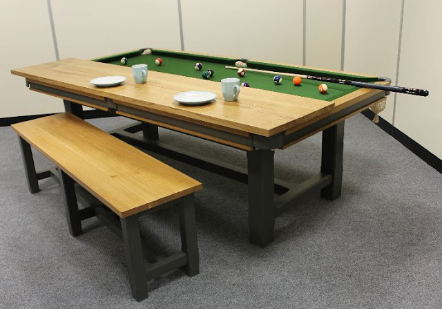 Fancy a Snooker Table in Santa's Sack but Don't Have the Room?  Introducing Convertible Snooker Dining Tables