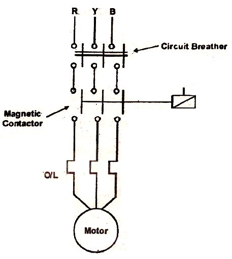 magnetic starter electrical symbol