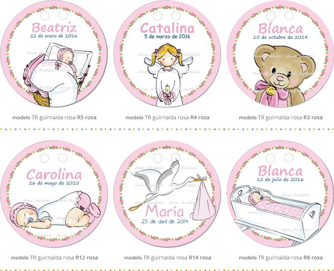 Modelos etiquetas Bautizo Nacimiento personalizadas originales