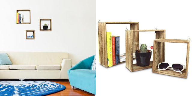 Shop for a square floating wall mount shelf.