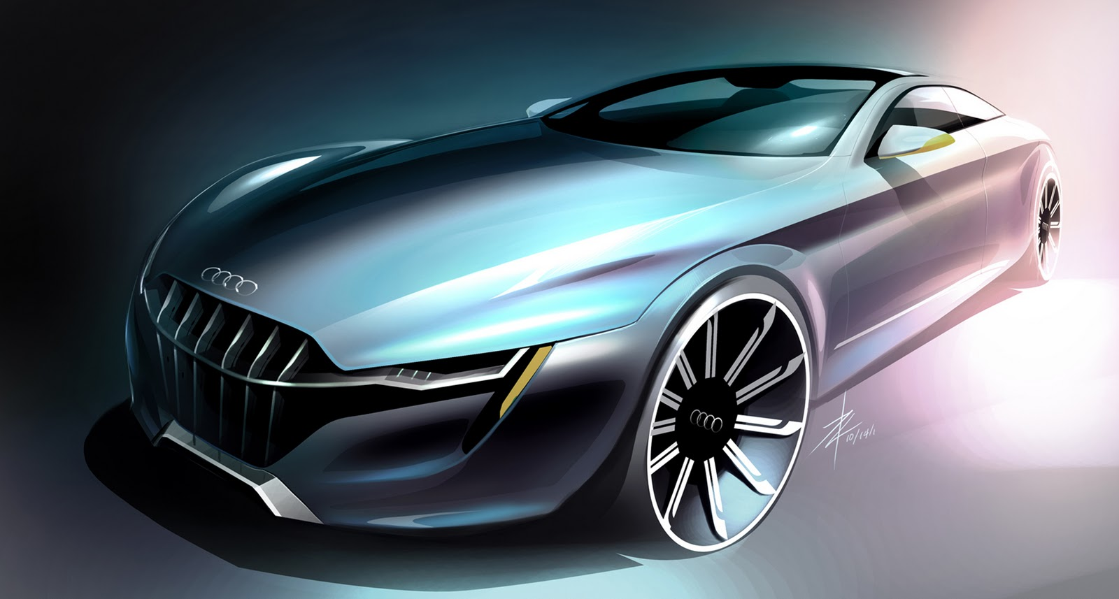 Dsng's Sci Fi Megaverse Futuristic Audi Concept Car Designs