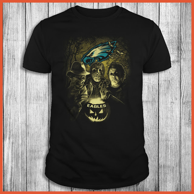 Philadelphia Eagles Halloween Horror Movie Shirt