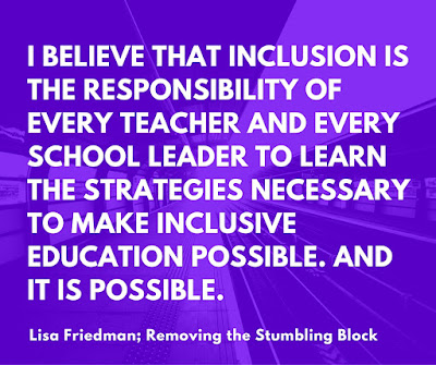 I believe in inclusion; Removing the Stumbling Block