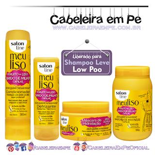 Condicionador, Defrizante, Máscara e Maionese Meu Liso Muito Mais Liso Amido de Milho - Salon Line (Low Poo)