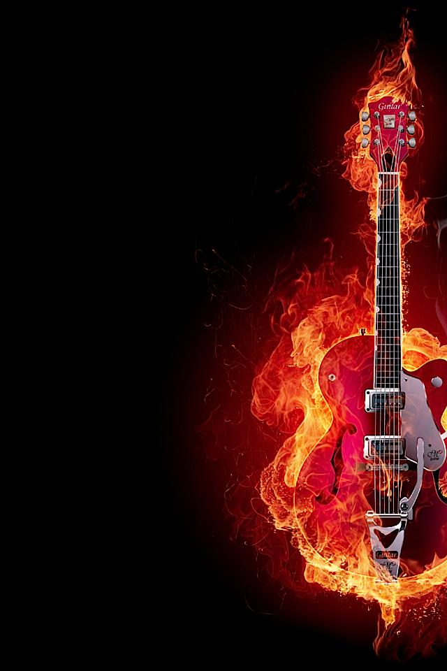 Iphone 5 Cracked Screen Wallpaper Electric Guitar Fire Iphone 4 Wallpaper Pocket Walls