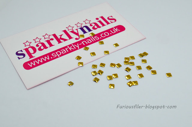 sparkly nails studs gold square nail accessory meebox