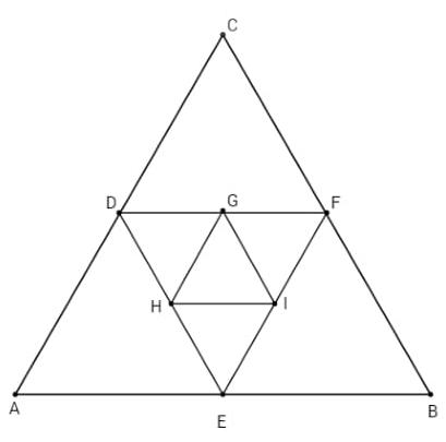 triângulos equiláteros