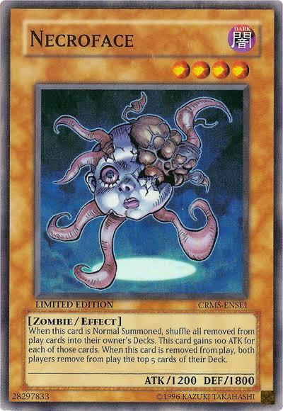 monster necroface yugioh