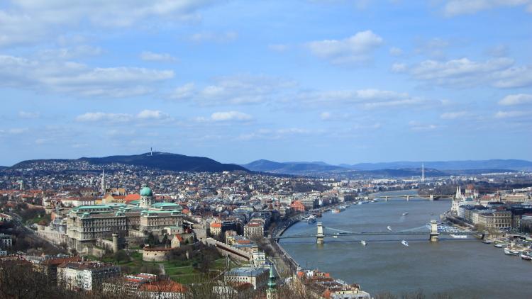 Vue depuis Buda - Budapest