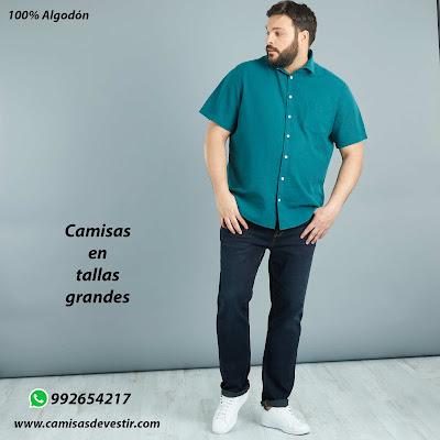 Camisas tallas grandes Tacna