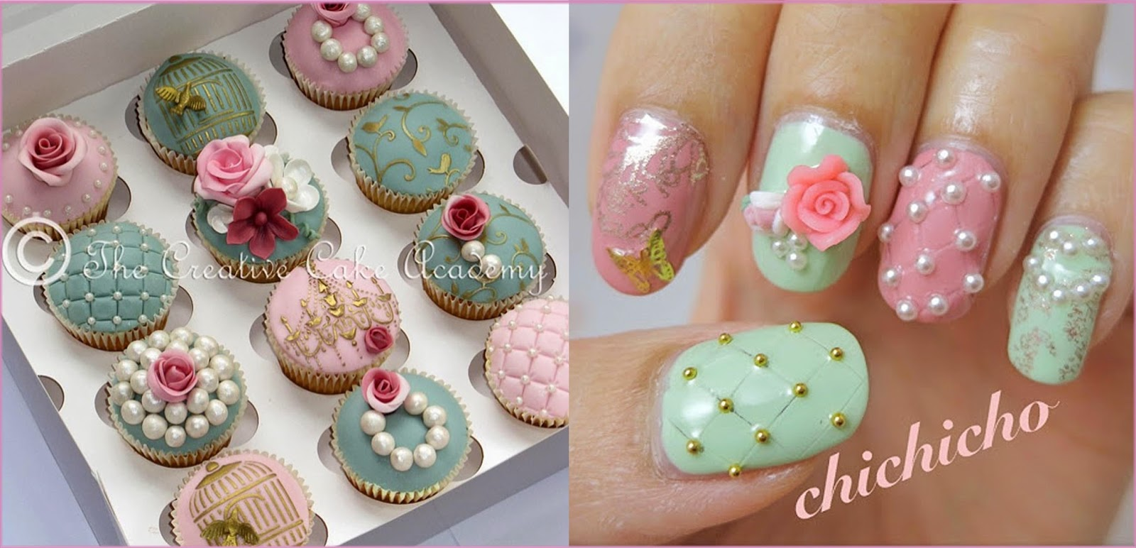The Creative Cake Academy: VINTAGE CUPCAKES AND NAIL ART ...