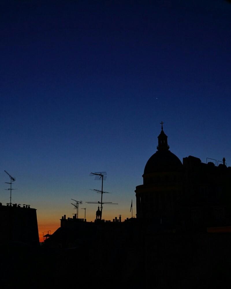 Pantheon, pariisi, auringonnousu