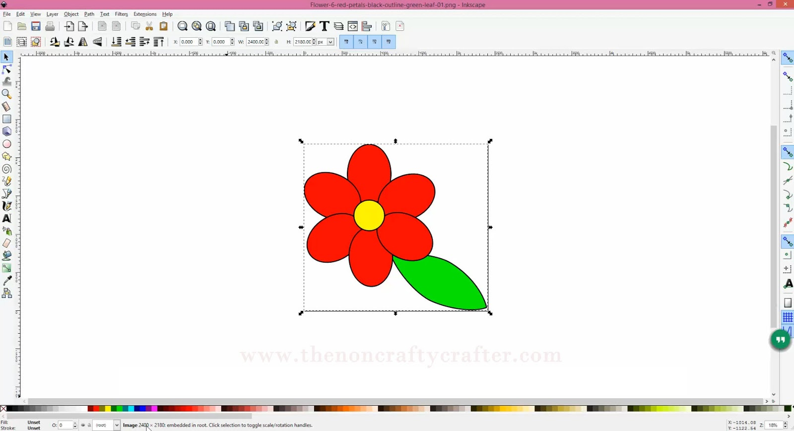 The Non-Crafty Crafter: INKSCAPE: Converting a JPG or PNG