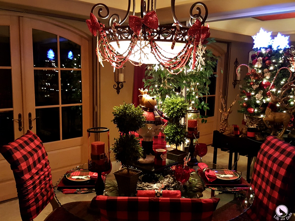 Stag Tablescape With Buffalo Plaid  Life and Linda