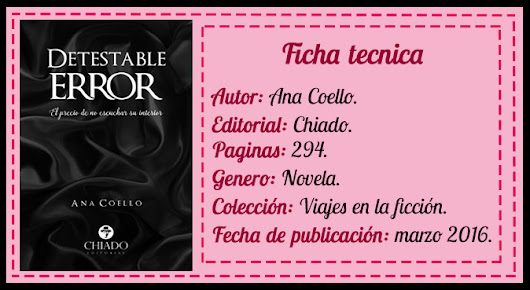 Reseña | Detestable Error.