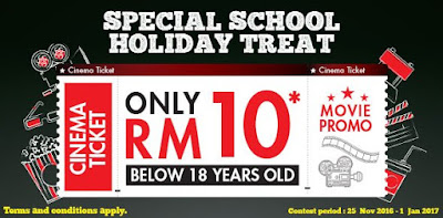 TGV Cinemas Student School Holiday Discount Movie Ticket Promo