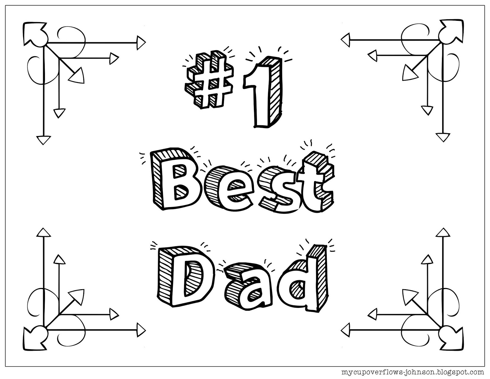 My Cup Overflows: Father\'s Day Coloring Pages