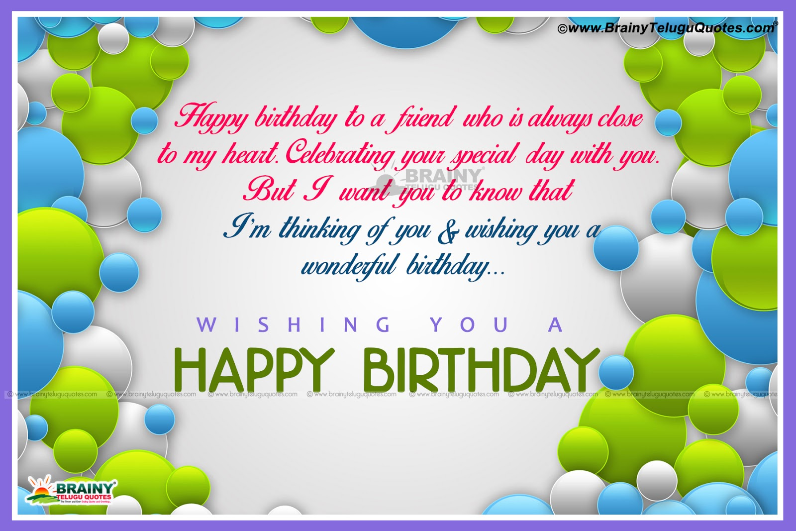 Brainy Birthday Quotes For Best Friend : Friend birthday quotes and messages in english language