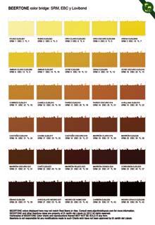 Diferentes tonos de color de la cerveza.