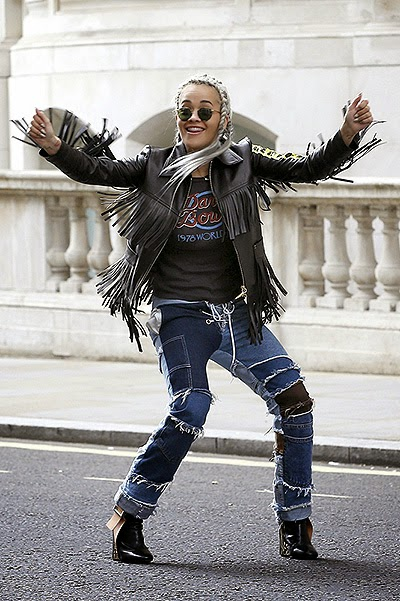 Rita Ora on the video shoot for the song Poison