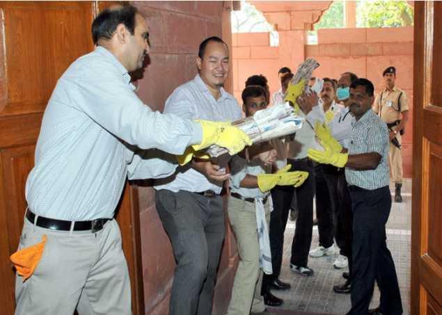 PMO में चला स्वच्छता अभियान,10 हजार फाइलों को हटाया