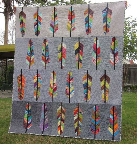 Feather Bed Quilt Free Pattern designed by Anna Maria Horner