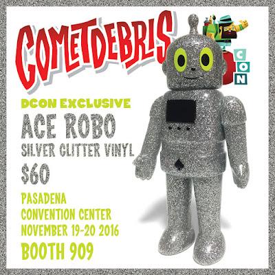 Designer Con 2016 Exclusive Silver Glitter Ace Robo Vinyl Figure by Cometdebris