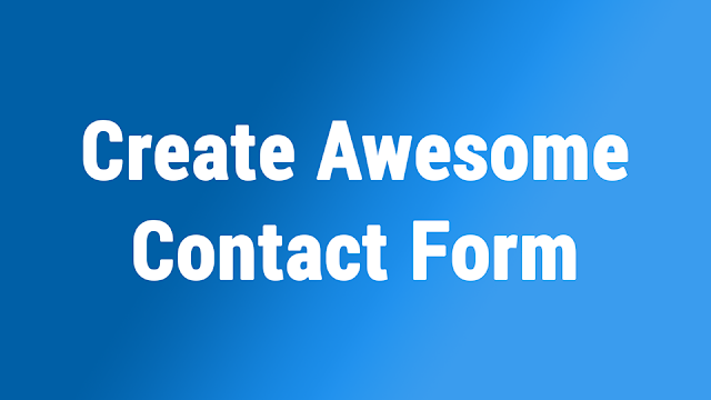 كيفية عمل نموذج اتصل بنا مميز - Create Awesome Contact Form Html,Css, PHP, jQuery, Bootstrap - دروس4يو Dros4U