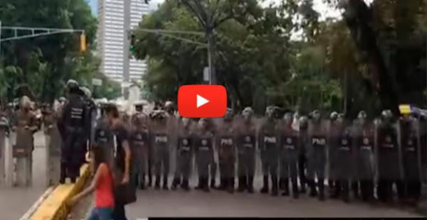 PNB herido por explosión durante protesta de trabajadores de la UCV