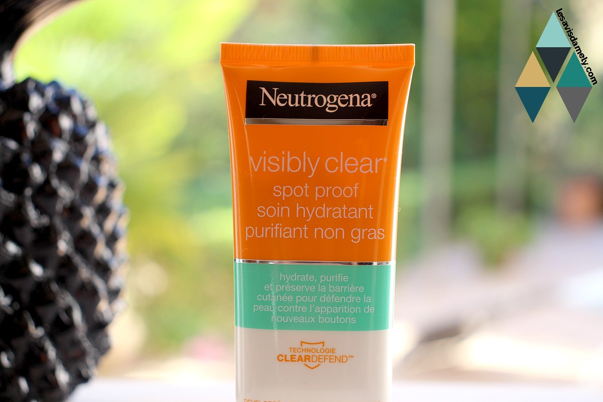 revue produit neutrogena visibly clear spot proof purifiant